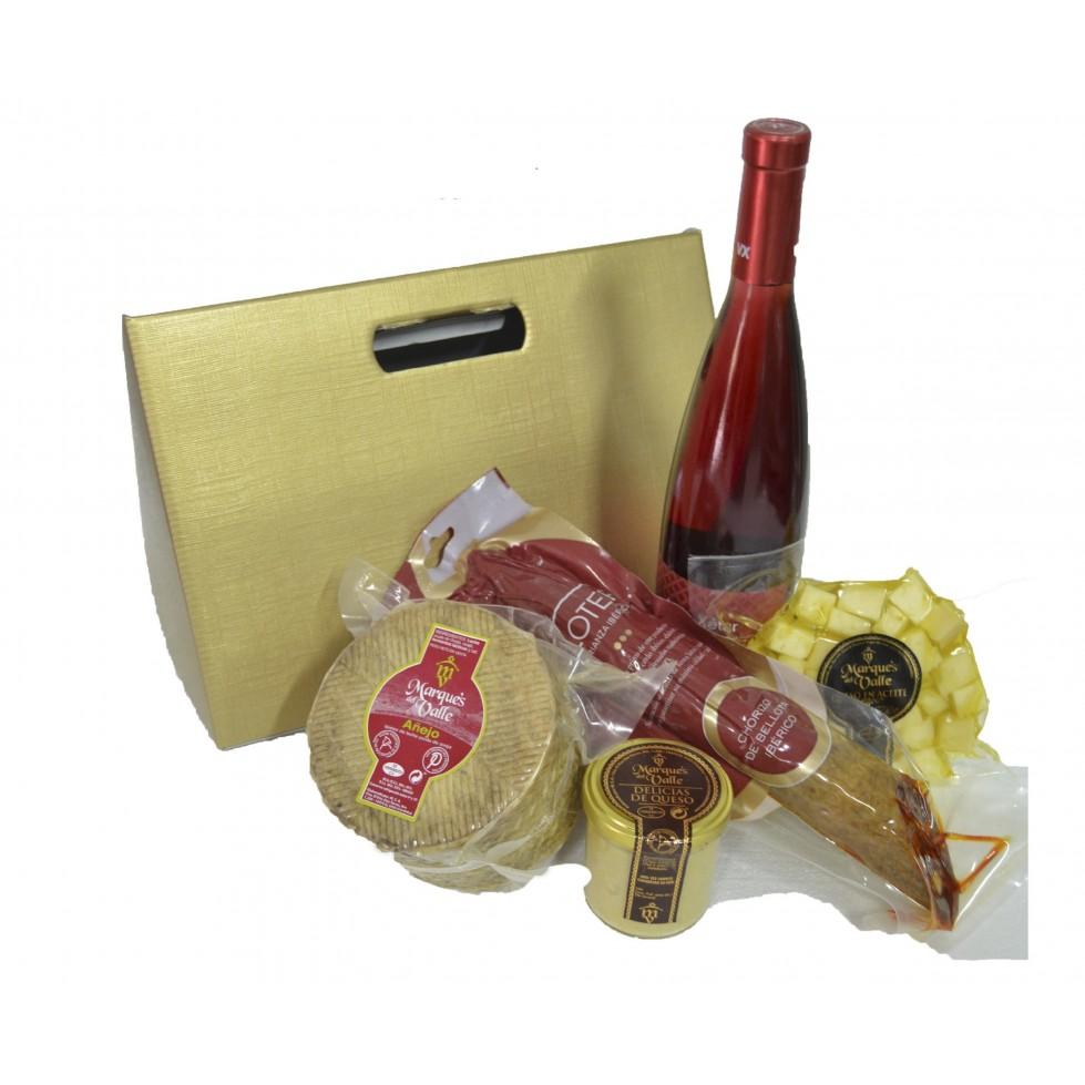 Lote nº 31: Combinado de Queso Añejo  + Vino + Chorizo